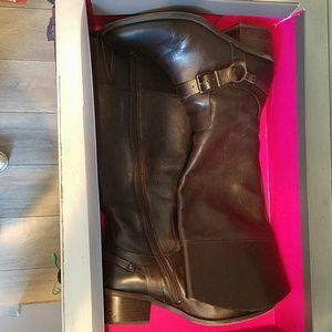 Tall fudge color boots